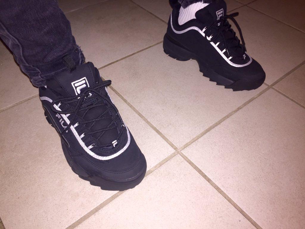 fila disruptor on feet