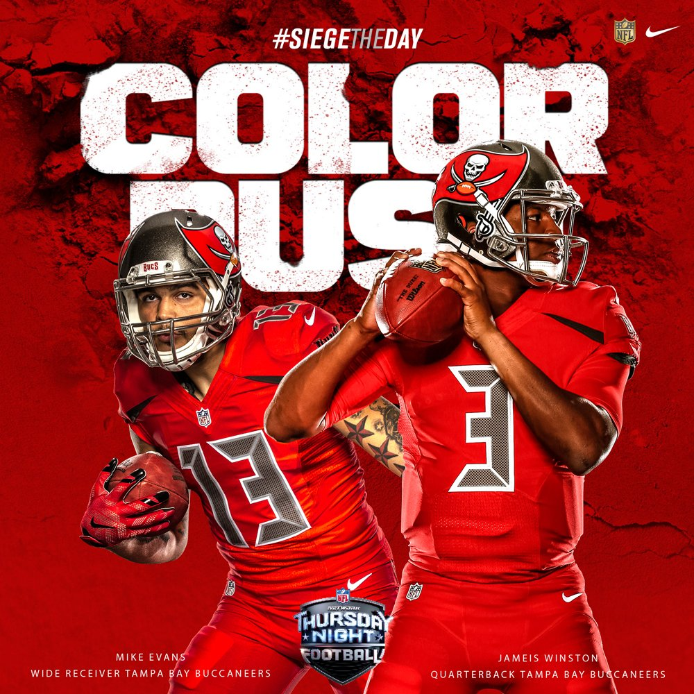 finest selection 558d1 8ef11 buccaneers color rush jersey