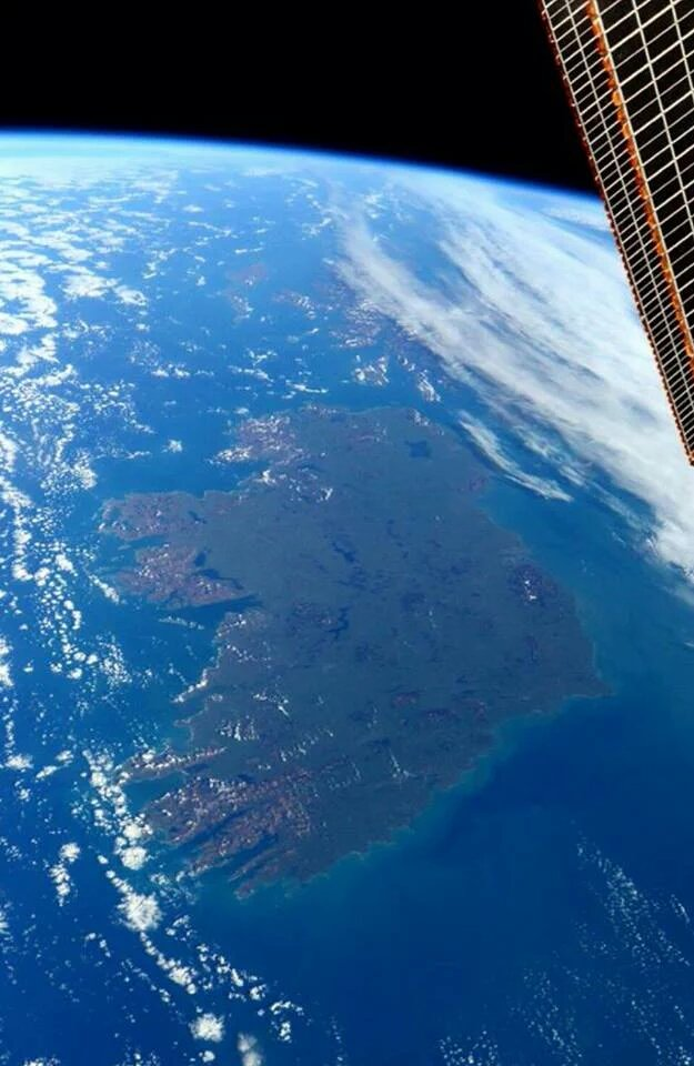 Ireland from the @Space_Station. https://t.co/CRn6gO3wLS