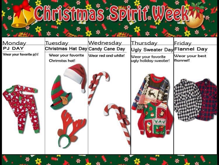 Christmas spirit week christmas decore for Christmas spirit ideas