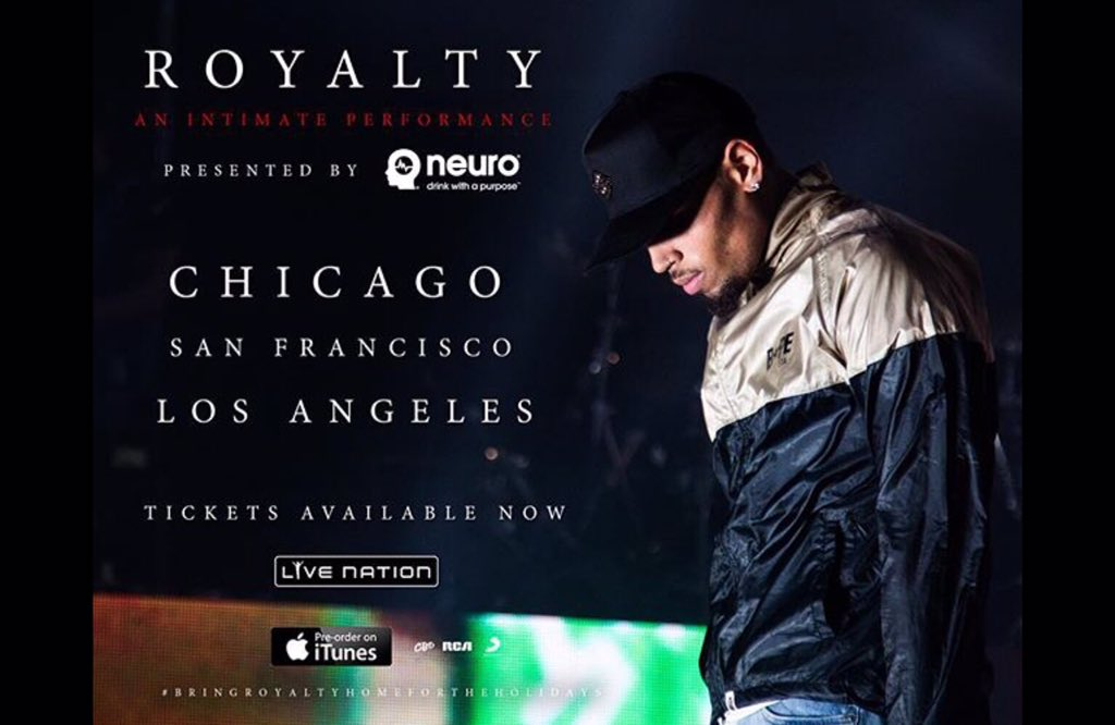 Who's gonna join us on the  @chrisbrownofficial #royalty tour presented by @drinkneuro and @livenation? https://t.co/C3s5Ji59TW