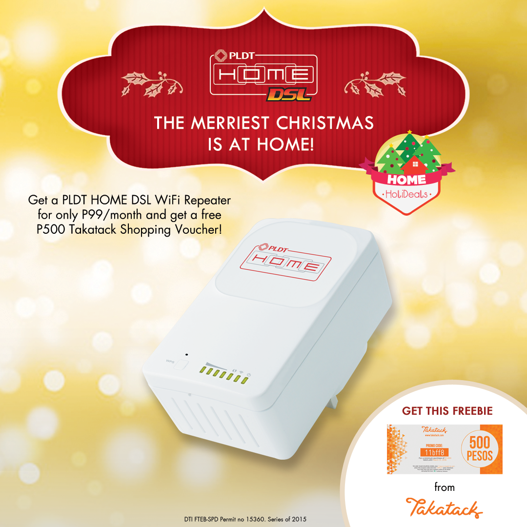 Pldt Home On Twitter Get The Wifi Repeater To Extend Your Wifi Reach Get A Free P500 Takatack Shopping Voucher Holidealsatthesmstore Https T Co Xdeagxi6a9
