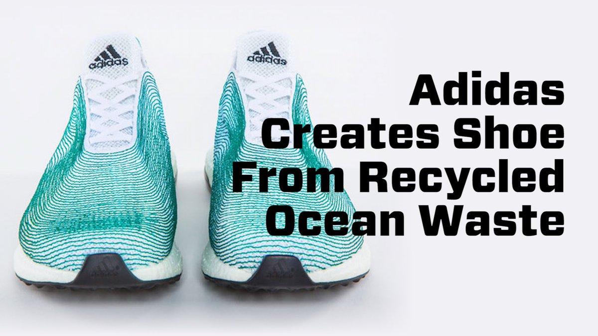 big sale fba34 c2aed adidas Shoe Uses Recycled Ocean Plastic, 3D Printing http   bit.ly 21TZlQG  via  ELDailypic.twitter.com IkVgfkEo1p