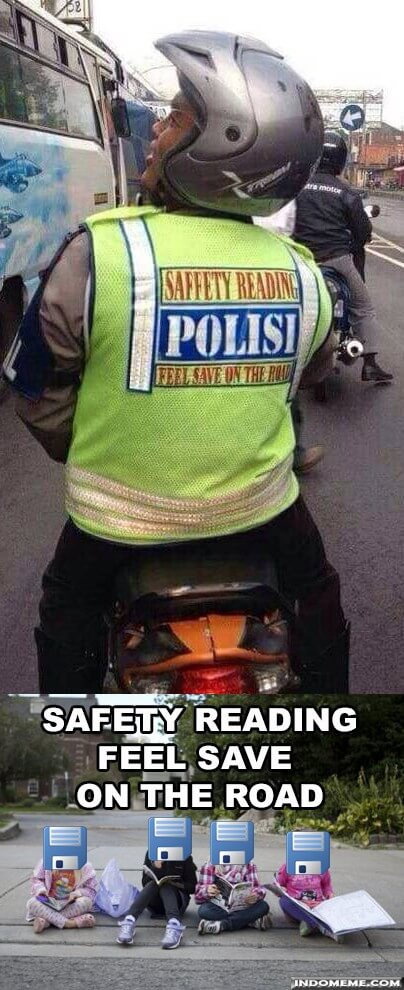 """Meme Lucu Indonesia on Twitter: """"Safety """"Reading"""" # ..."""