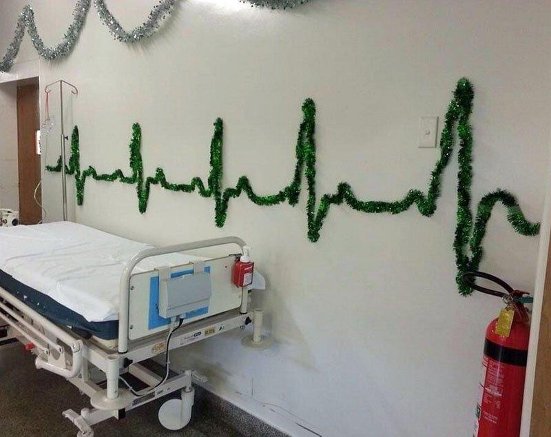 【素晴らしきコ・メディカル!】病院をあげてのメリクリデコレーションが華麗すぎる!
