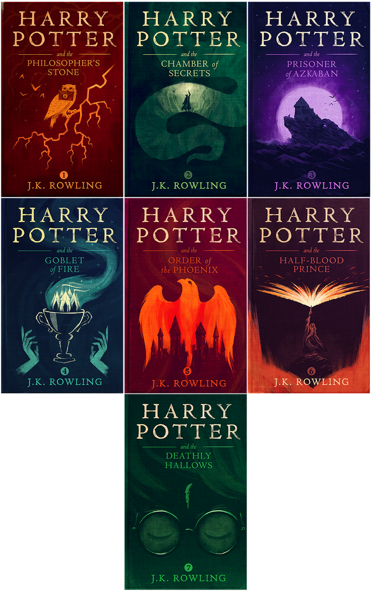 I made new covers for Harry Potter. My eleven-year-old self is losing his mind right now. https://t.co/VnZNZ7xZKQ