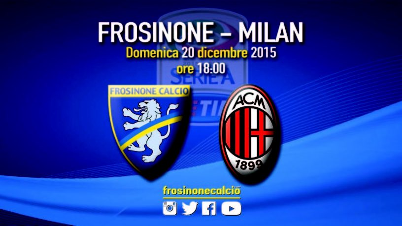 Come vedere Frosinone-Milan Rojadirecta Streaming e Diretta TV