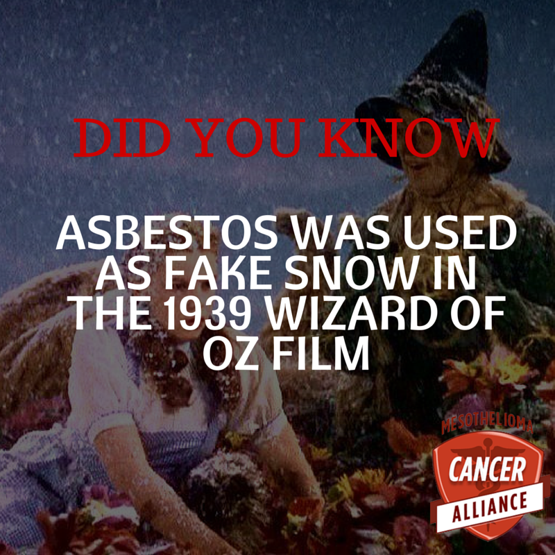 CancerAlliance On Twitter Read More About The Use Of Asbestos As Fake Snow Set Wizard Oz At Tco UuOwYcKsyB
