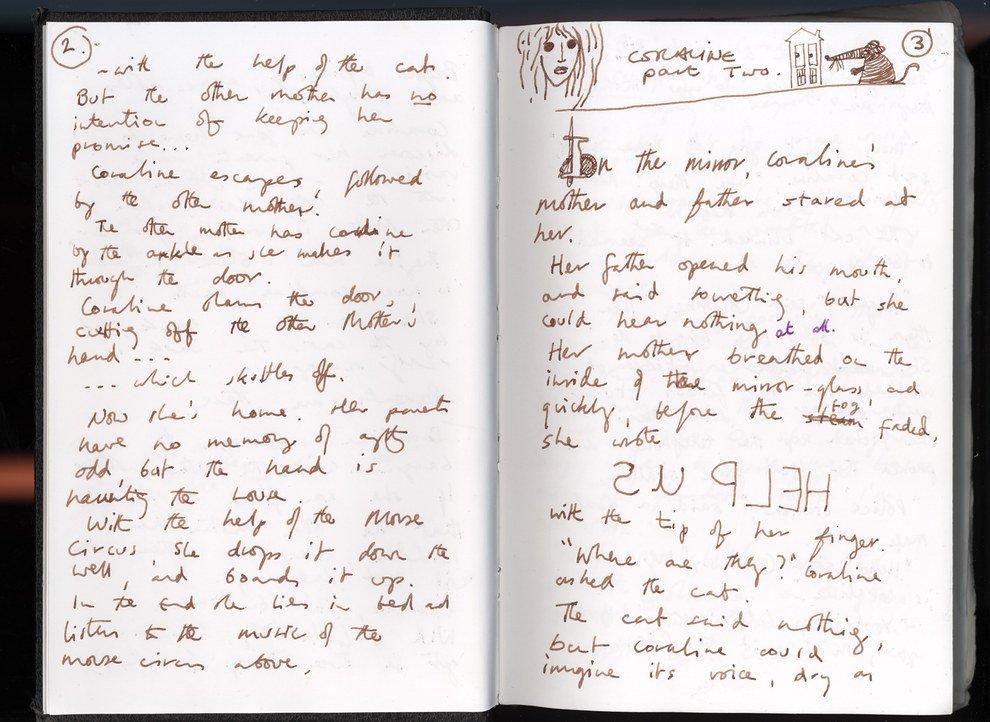 Behold: Neil Gaiman's handwritten manuscripts! https://t.co/AVtYZOpcjD #kidlit #writing @neilhimself @BuzzFeed https://t.co/yJyUx6mIKS