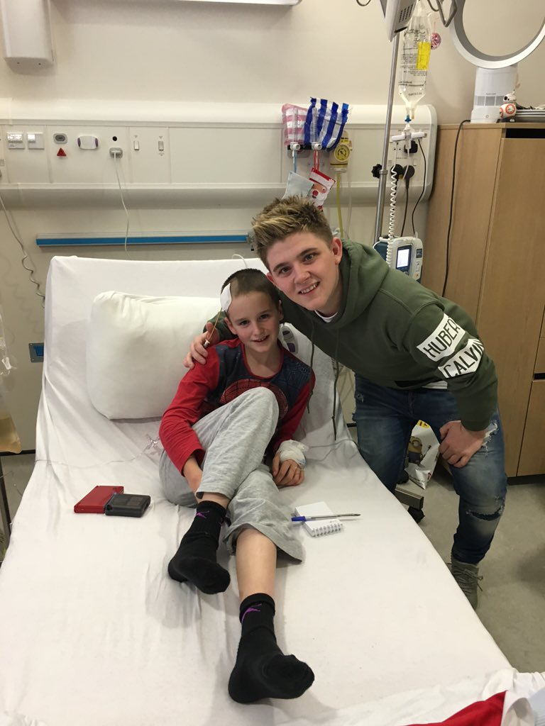 RT @yorkhillcharity: Thank you @nickymcdonald1 for coming to visit our young patients today, Dean was delighted to get a snap with you! htt…
