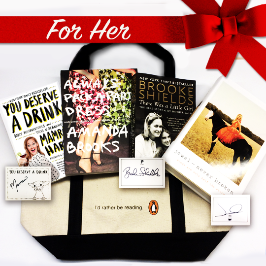 Need a great #gift for her? RT for a chance to win books by @mametown, @BrookShields, @jeweljk and more! US only https://t.co/8zXfkY4MSd