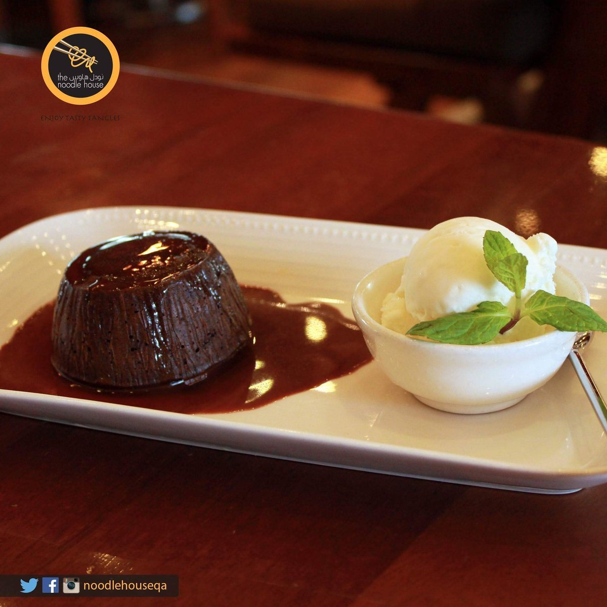 We could give up chocolate, but we're not quitters! Try Hot chocolate lava cake from The Noodle House ;) https://t.co/fa1AWSqi9s