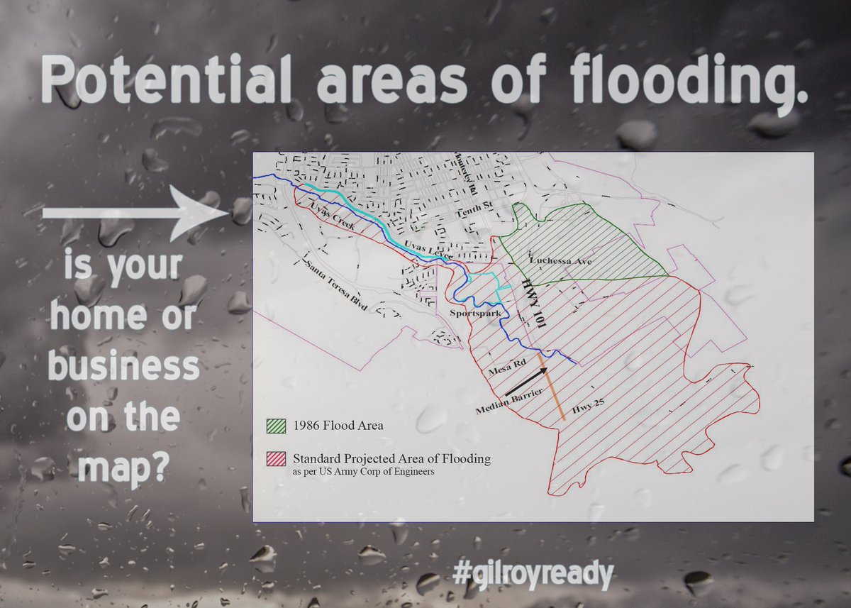 City Of Gilroy On Twitter Do You Live In A Flood Prone Area Of - Flood check map
