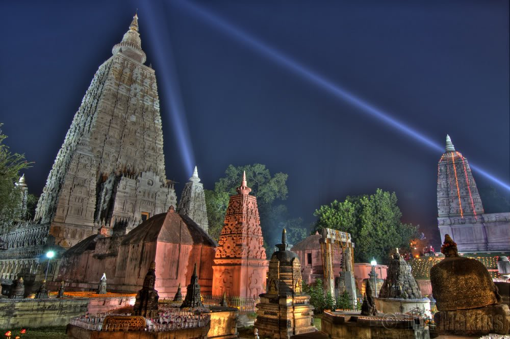 Mahabodhi  Temple, Gaya, Bihar  IMAGES, GIF, ANIMATED GIF, WALLPAPER, STICKER FOR WHATSAPP & FACEBOOK
