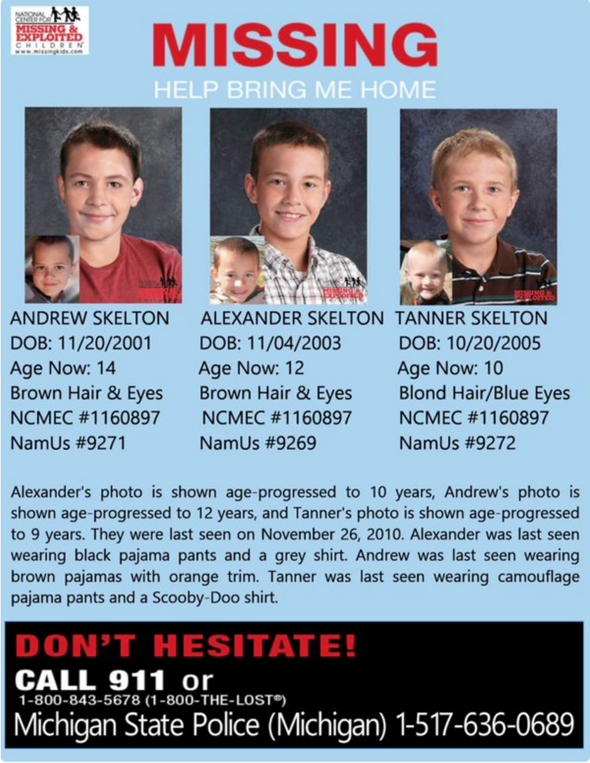 My Cousins Children have been missing for five years, please take 30 seconds take a close look at their pictures. https://t.co/de62aCwB6h