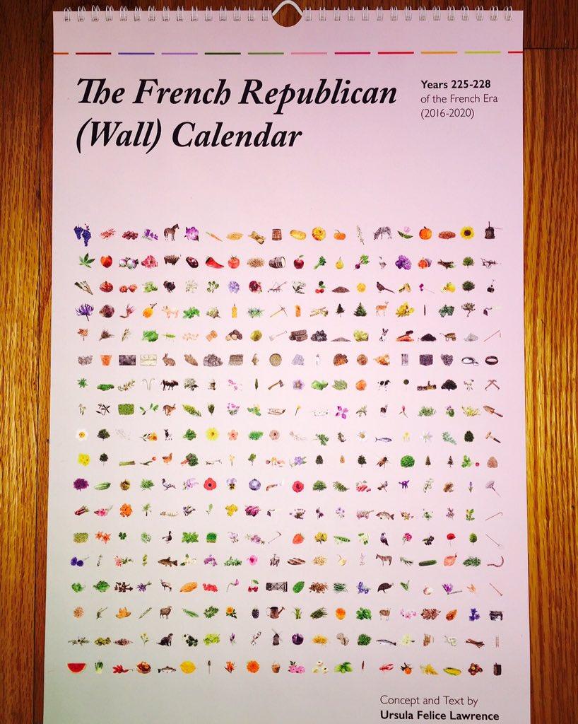 David Hill On Twitter My French Revolutionary Calendar Finally