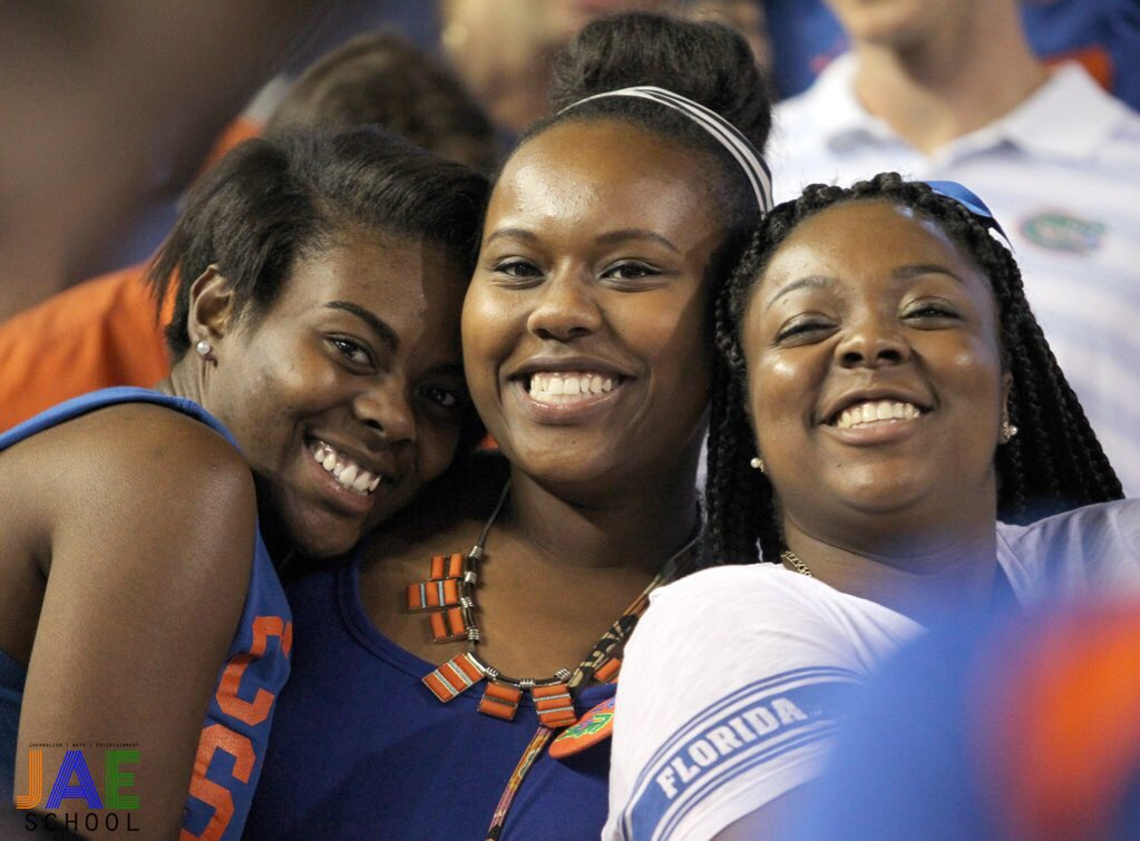 Zeta Gators in the Swamp... 💙🐊#UFvsFSU #BeautifulBlackUF #TheSwamp #JAESchool