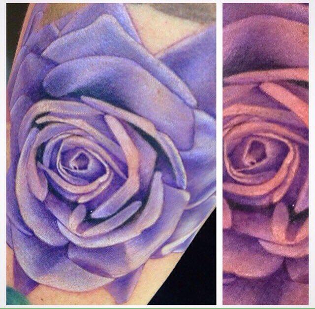 William Did This Purple Rose Purplerose Rosetattoo Lifesinked