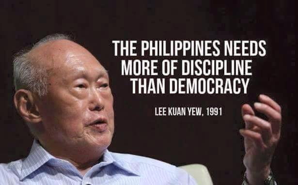 "Mike Villagracia no Twitter: """"The Philippines needs more of discipline  than democracy."" (Lee Kuan Yew) #Eleksyon2016 #Halalan2016 #Duterte2016  https://t.co/BAY0SMIzAZ"""