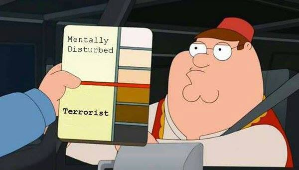A handy color-coded guide as to who is a terrorist and who is simply mentally-disturbed https://t.co/w7maaRWFWq