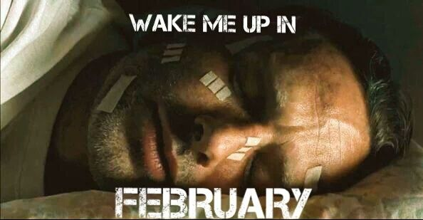 """The Walking Dead returns 2/14/16"" #TheWalkingDead WAKE ME UP IN FEBRUARY! #TWDMidSeasonFinale  #TWD https://t.co/nUbRNZsAEL"