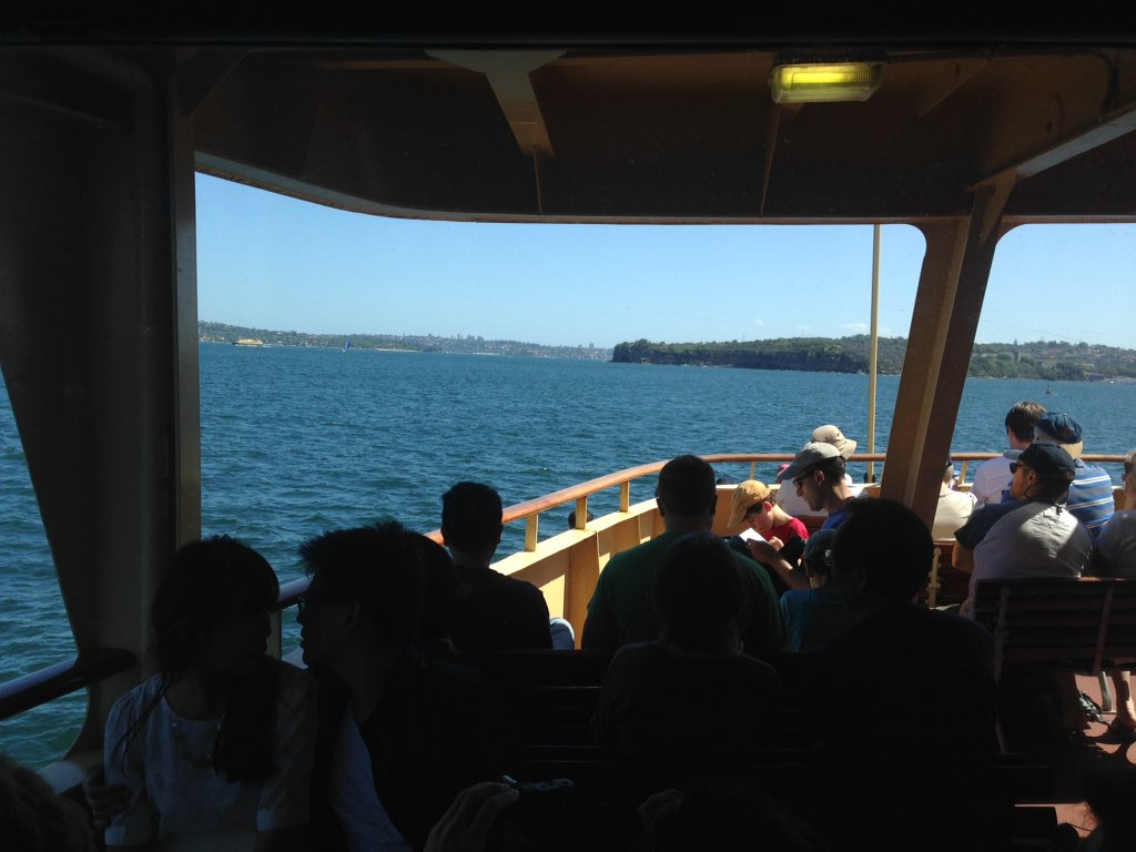 I can't wait for #tmhouse arriving in Sydney style on the Manly ferry. https://t.co/8bFalr3CJl