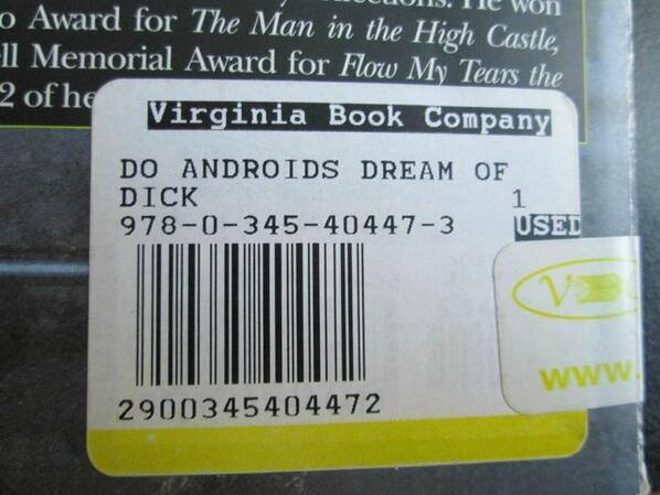 Unfortunate labeling to a classic Phillip K. Dick book... https://t.co/9CxKTe8n48
