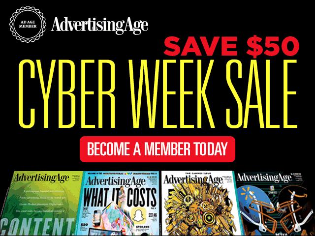 Cyber Monday Sale – Save $50 on Ad Age Membership! https://t.co/dtaR37Bbid https://t.co/ei5NN9mfSB