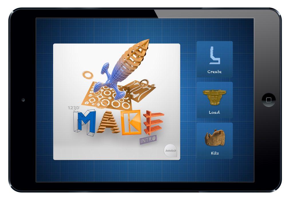 #k12ArtChallenge - exploring prototyping, joinery, structural integrity, etc - 123D Make app #artsed #edtech #iPaded