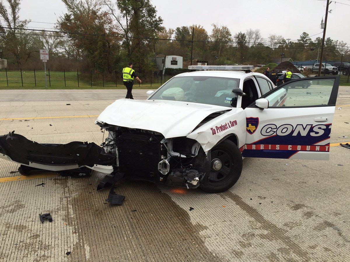 Harris county precinct 4 deputy constable injured in 3-car crash