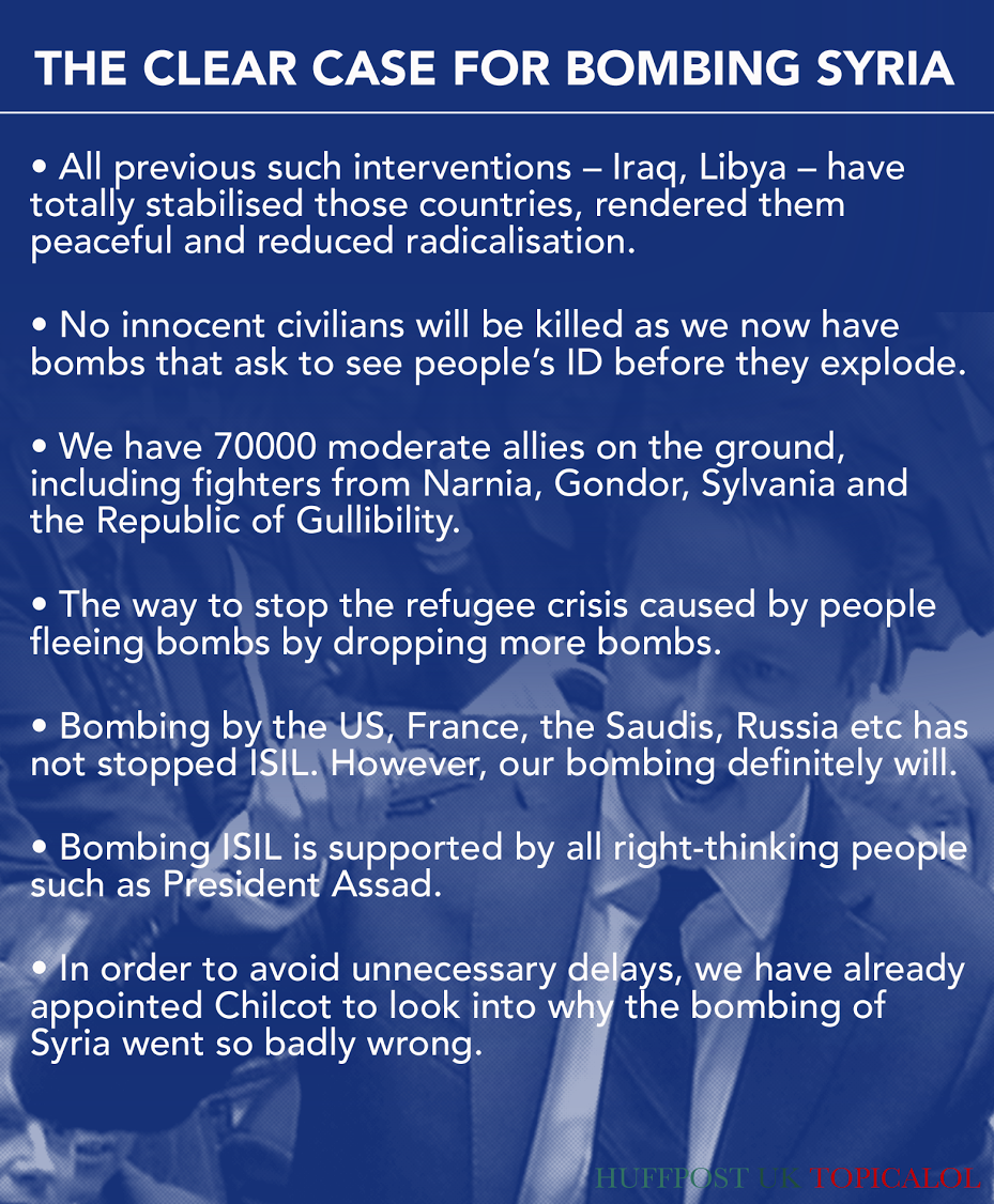 Why we should bomb Syria. (done for @HuffPostUKCom) https://t.co/dyeVh6xkRH