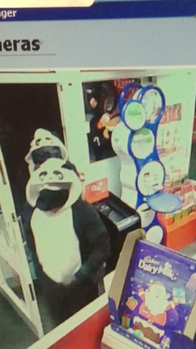 Robbers in panda onesies hit store
