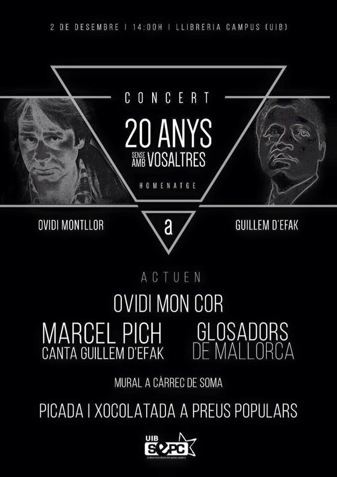 Concert en homenatge a Ovidi Montllor i Guillem d'Efak a l'UIB (02-12-15)