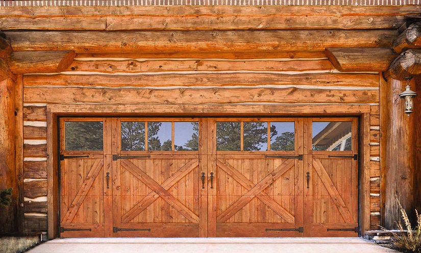 Wayne dalton doors on twitter beautiful custom wood for Log cabin style garages