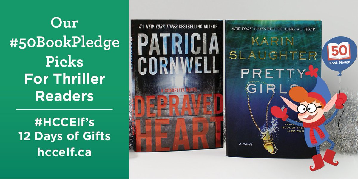 Colin's back, and he's giving away two #50BookPledge Featured Reads. RT to enter! https://t.co/W0F92oKha5 #HCCElf https://t.co/qxXw7x9LJr