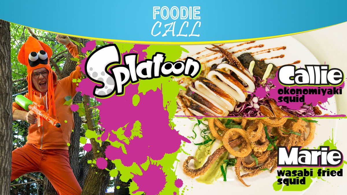 I cooked for NINTENDO!   The uncut version of Foodie Call:  #Splatoon is LIVE.  https://t.co/UYIsw2mPVr https://t.co/ZkdcgjLzu0
