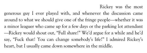 Everyone talking about playoff shares reminds me of this story from Piazza's book about Rickey's generosity. #GOAT https://t.co/kQIGKr83Xr