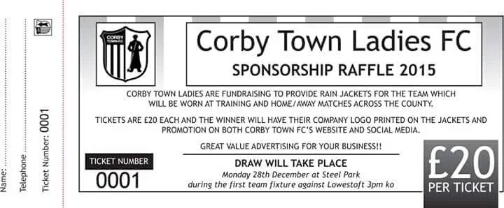 RT @corbytownladies: We will be drawing the winning raffle ticket at HT during the @corbytownfc @SCFCmedia game on Sat 12th December. https…