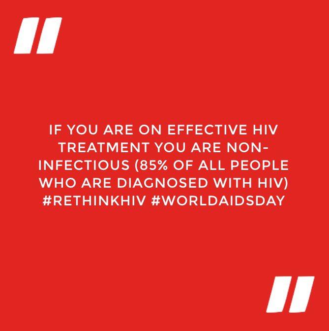 Think positive. #RethinkHIV #WorldAIDSDay https://t.co/kBF4ztwHup