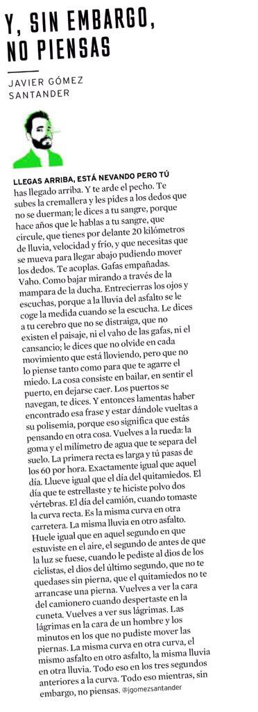 Vía @Papel_EM las dos piezas de @jgomezsantander y @anderiza para amantes del ciclismo https://t.co/HSuTZIFeGb