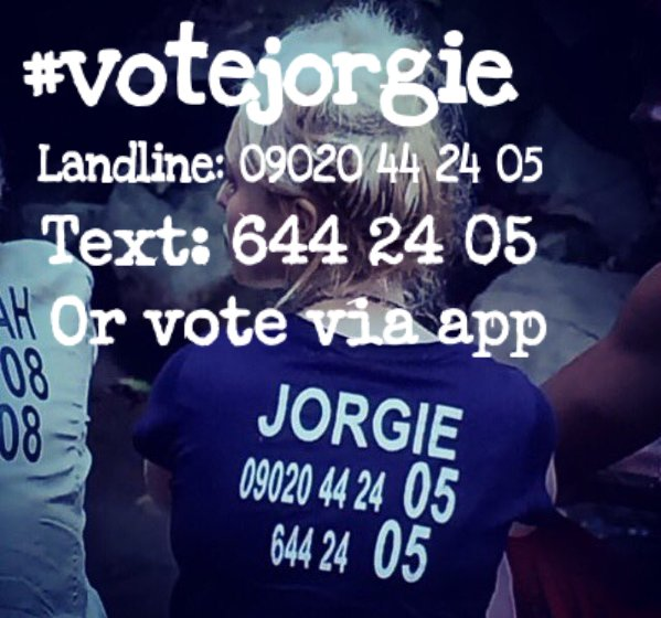RT @Towiecenter: Please vote if you want to see more of @misJORGIEPORTER #ImACeleb https://t.co/YhJT3abRda