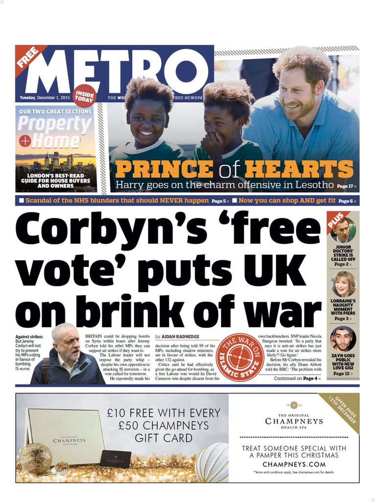 "Journalist: ""This war is starting to look very unpopular"". Editor: ""Just blame Corbyn then"". https://t.co/7qqL7XYcY5"