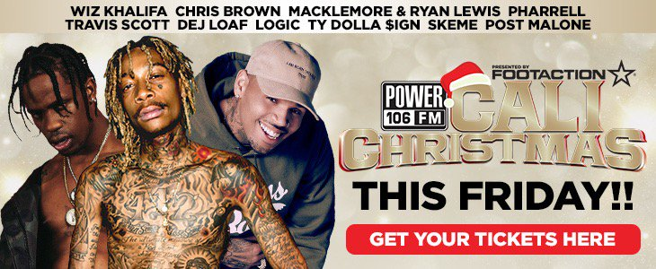 #CaliChristmas w/ @ChrisBrown @WizKhalifa +more is THIS FRIDAY! Get ur tix NOW https://t.co/N2EZ3JfpII @POWER106LA https://t.co/uO8VExvO8t