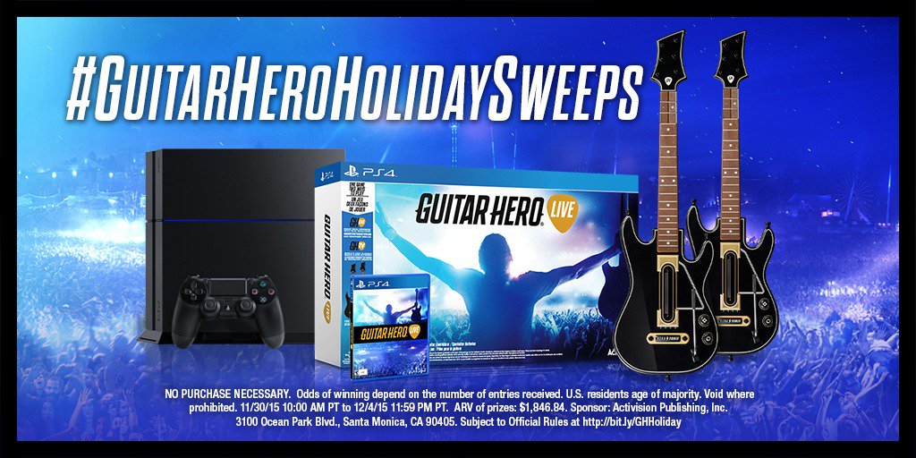 Tis the season for giving! RT for a chance to win a @playstation 4, a 2-guitar bundle, & @fwong's guitar controller! https://t.co/A4ohMqjBf4