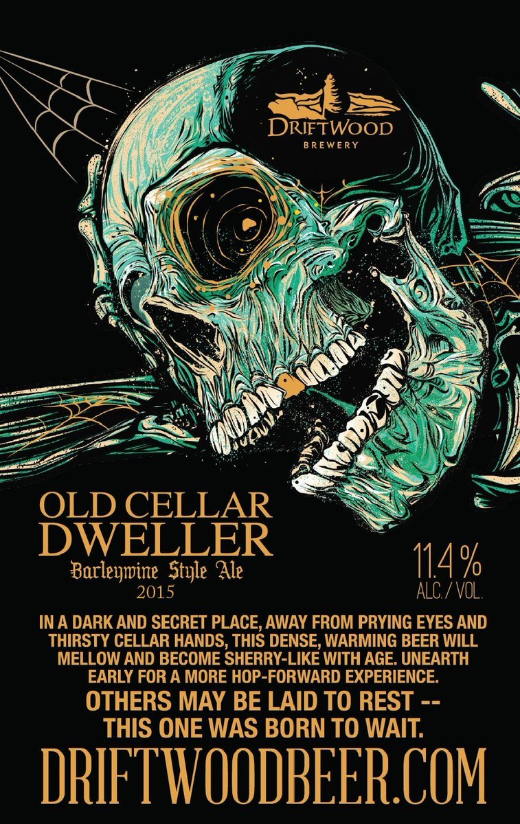 Old Cellar Dweller will be released in select #YYJ stores starting tomorrow and will slowly creep onto #YVR shelves! https://t.co/RtfawX3sDC