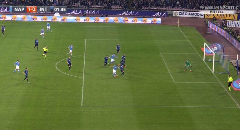 Napoli-Inter Risultato in Diretta Live: Gol di Higuain al 2′ 1-0