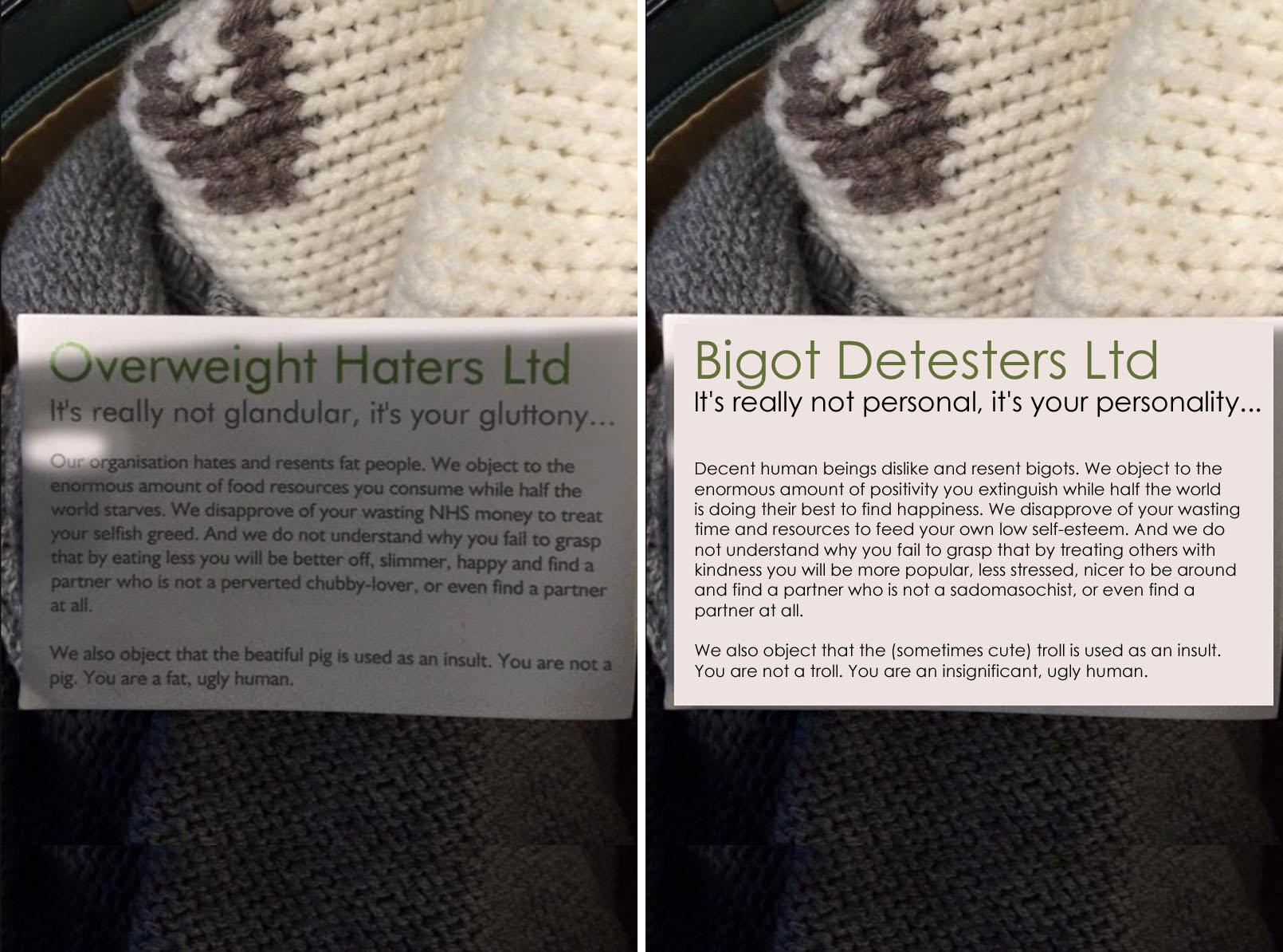 RT @notlamb: Overweight Haters Ltd, meet Bigot Detesters Ltd. I make the *best* introductions. #OverweightHatersLtd https://t.co/wk6JOV4LWG