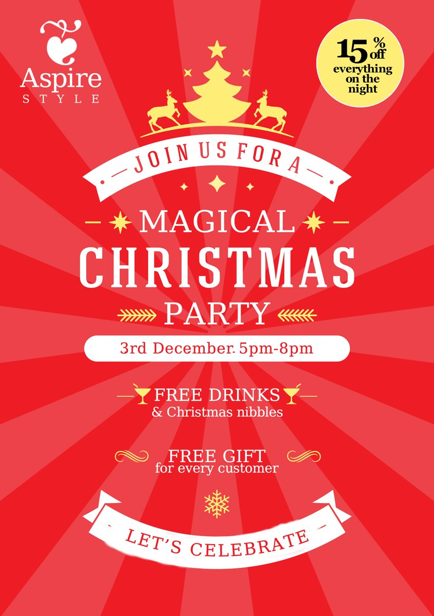 Aspire Style On Twitter Join Us For A Magical Christmas Party In Warwick Thurs Eve For Drinks Nibbles 15 Off Everything