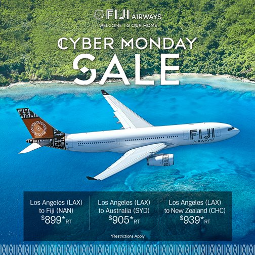 Fiji Airways On Twitter Don T Miss Cyber Monday Deals On Flights From The U S Flyingfiji Cybermonday Traveldeals Https T Co Msutqrgpxf Https T Co N9f8waqigd