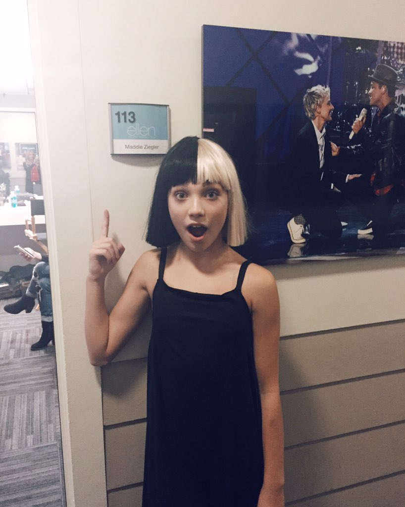 Maddie Ziegler On Twitter So This Happened Today Always A Great Time Performing With Sia Love Her And Theellenshow S T Co Qcpimlgadu